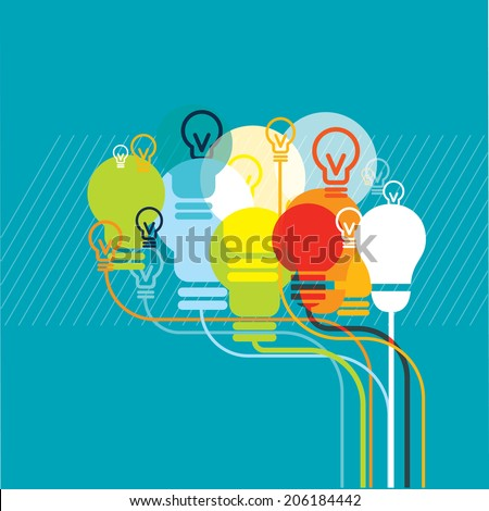 Brainbulbs - stock vector
