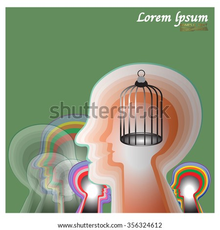 Brains, creativity, independence - stock vector
