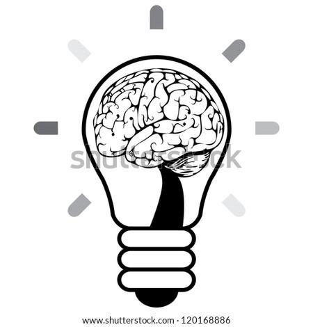 Brainstorm idea - stock vector