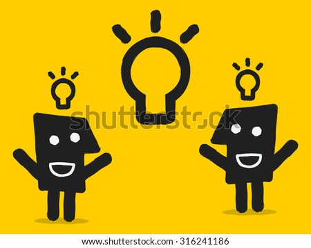 brainstorming - stock vector