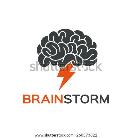 Brainstorming creative idea abstract icon. - stock vector