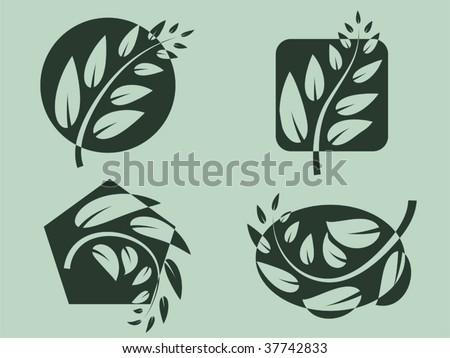 Branch logos. Vector illustration. - stock vector