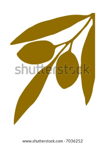 Branch with olives - stock vector
