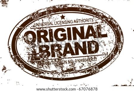 Brand emblem - stock vector