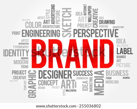 BRAND word cloud, business concept  - stock vector