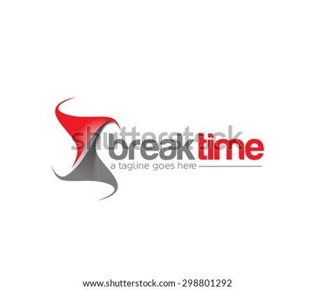 Branding Identity Corporate Break time vector logo design  - stock vector