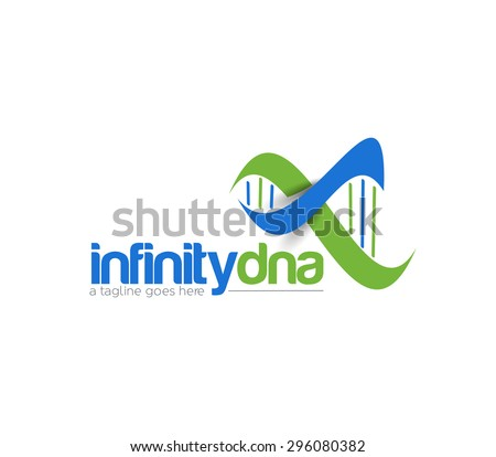 Branding Identity Corporate infinity dna vector logo design. - stock vector