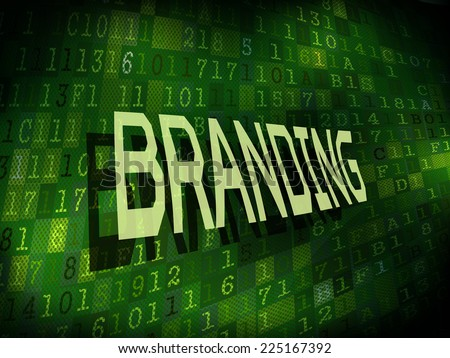 branding word isolated on internet digital background