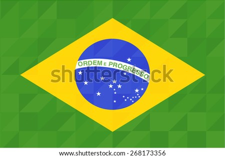 Brasil flag geometric concept design. Vector background