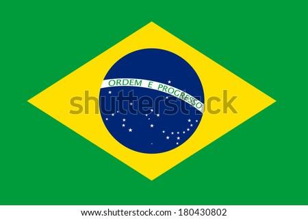 Brasil flag vector illustration - stock vector