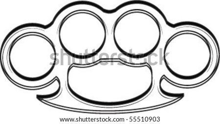 Brass knuckles stock photos images pictures shutterstock for Brass knuckles template