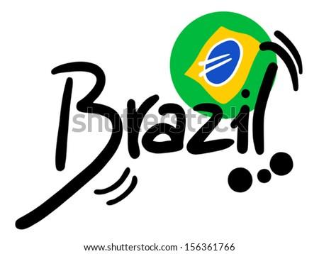 brazil - stock vector