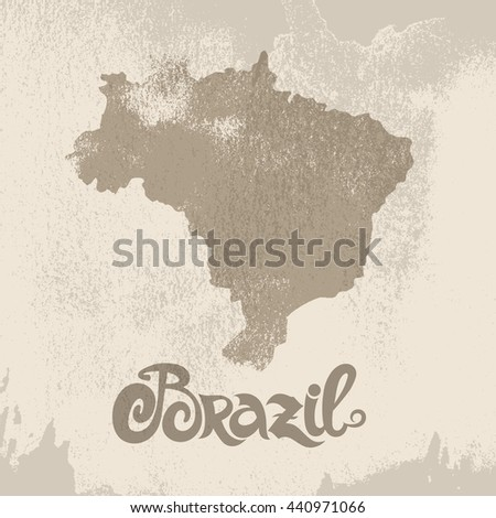 Brazil. Abstract vector background - stock vector