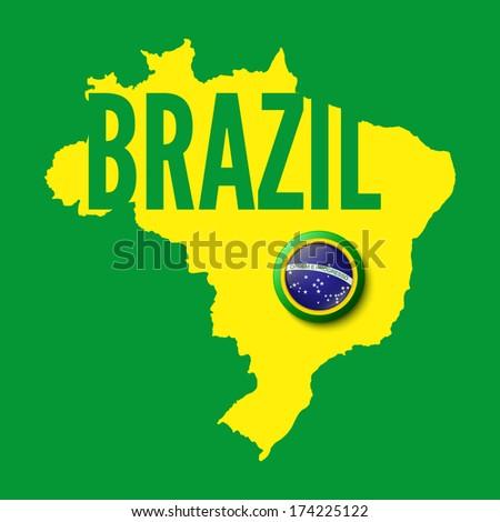 Brazil. Background for your presentations. Vector illustration - stock vector