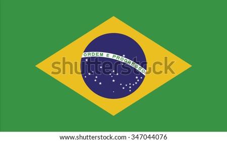 Brazil; Brasilia; Brazilian Flag vector image   - stock vector