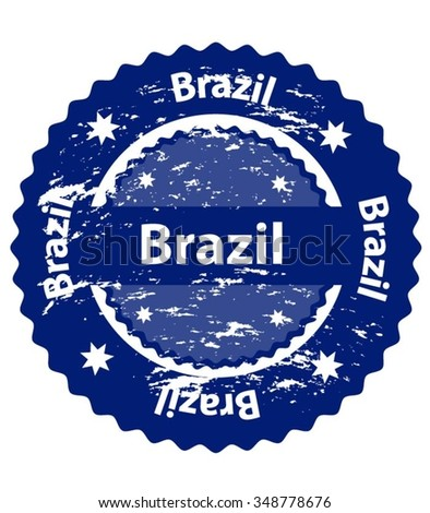 Brazil Country Grunge Stamp - stock vector
