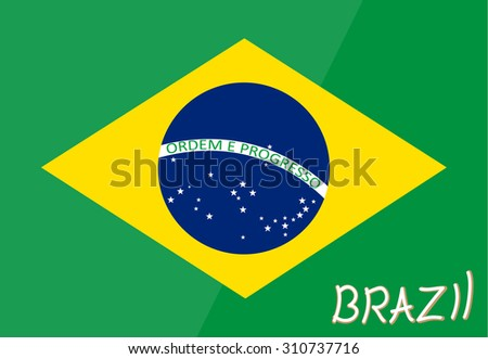 brazil flag vector symbol illustration nation design