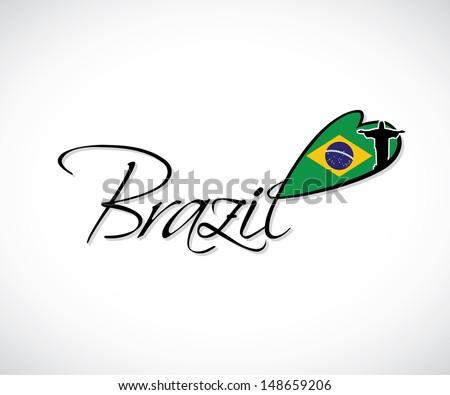 Brazil lettering - vector illustration - stock vector