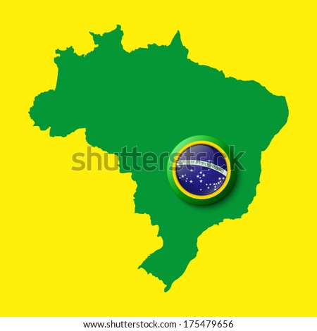 Brazil map. Background for your presentations. Vector illustration - stock vector