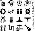 Brazil pictograms - stock photo