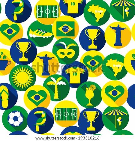 Brazil seamless background - stock vector