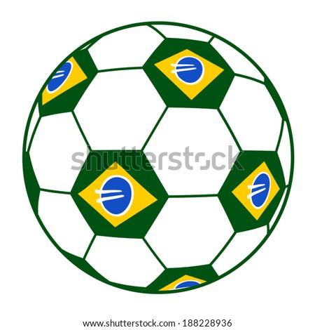 Brazil soccer ball - stock vector