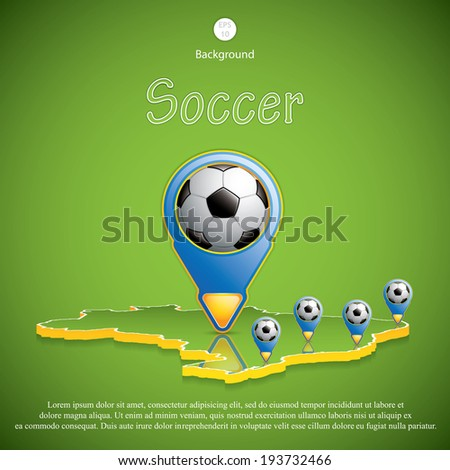 Brazil Soccer 2014 host cities map.Vector - stock vector