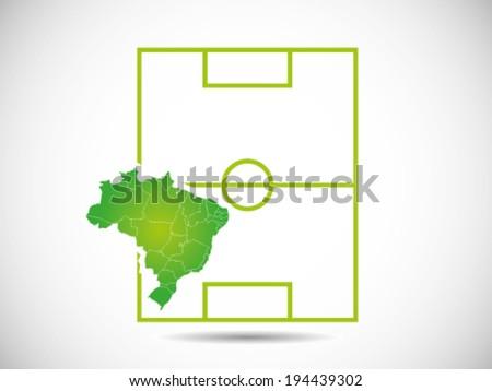 Brazil Soccer Stadium - stock vector