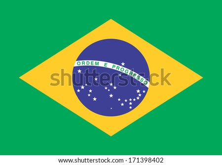 Brazilian flag - stock vector