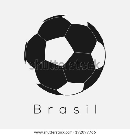 Brazilian Soccer Ball Icon | EPS10 Vector - stock vector