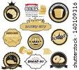 bread Sticker and icon set 03 - stock vector