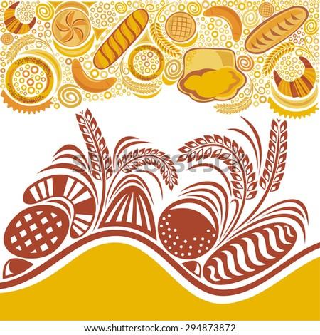 Bread wheat bakery vector illustration - stock vector