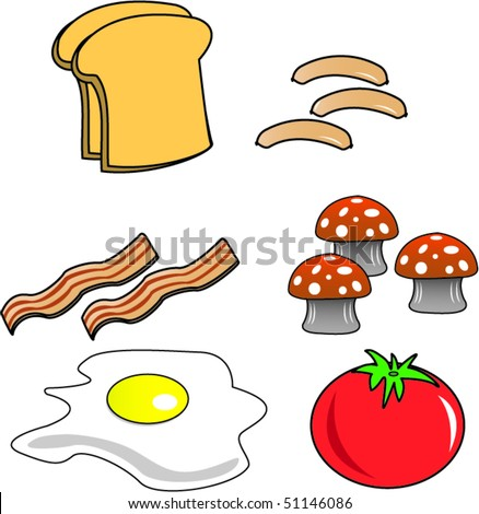 Breakfast vector - stock vector