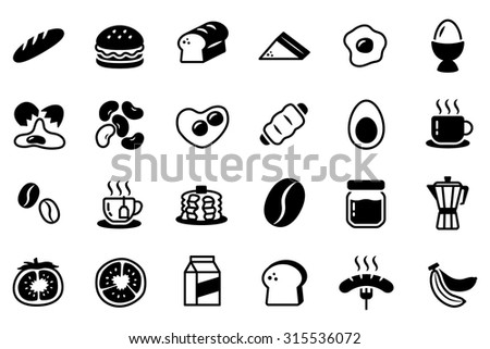 Breakfast Vector Icon Set Collection