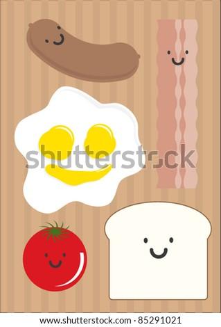 breakfast vector/illustration - stock vector