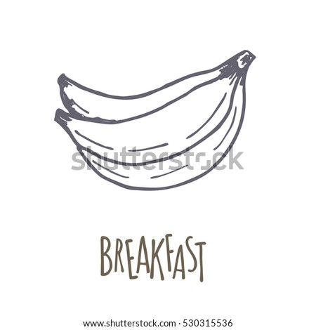 Breakfest hand drawn icon over white background. Doodle illustration