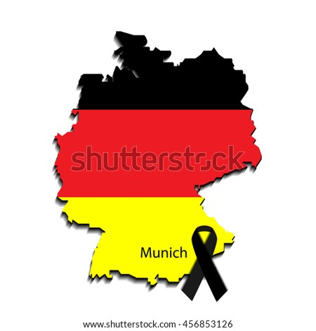 breaking news design. Germany recent events. Last news in country. Map and flag of germany. Can be used as banner of last news for web sites, tv etc.