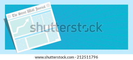 Breaking news! Good news! Vector illustration of newspaper first page  - stock vector