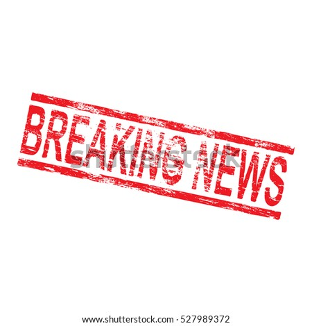 Breaking news grungy rubber stamp vector illustration