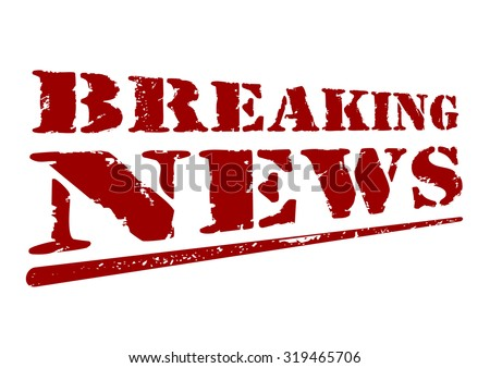 Breaking news. The inscription in grunge style. Vector illustration, version 2. - stock vector