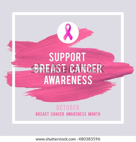 Breast Cancer Awareness Creative Pink Poster Stock Vector ...