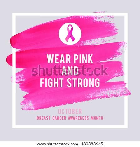 vetor stock de breast cancer awareness creative pink poster livre