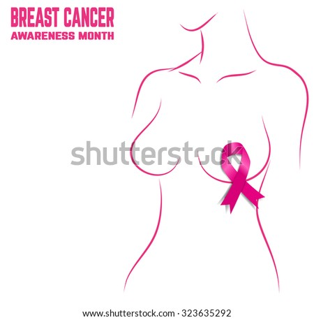 Breast Cancer Awareness Month Banner. Logo for poster. - stock vector