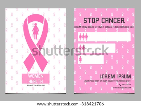 Breast Cancer Awareness Month. Banners, Flyers, Placards and Posters.  - stock vector