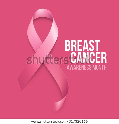 Breast Cancer Awareness Ribbon Background. Vector illustration  - stock vector