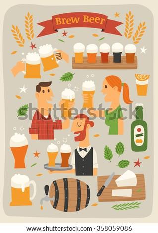 Brew Beer - stock vector