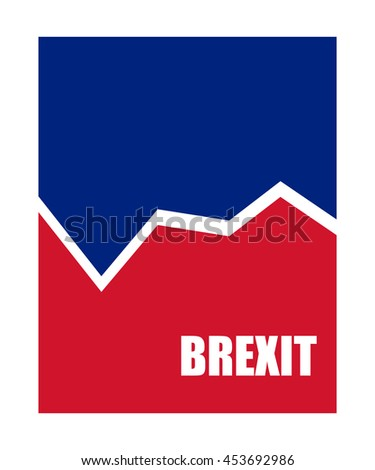brexit abstract business banner - stock vector