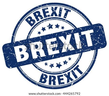 Brexit stamp. brexit sign. brexit. britain leaving eu. - stock vector
