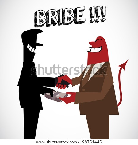 Bribe money - vector illustration
