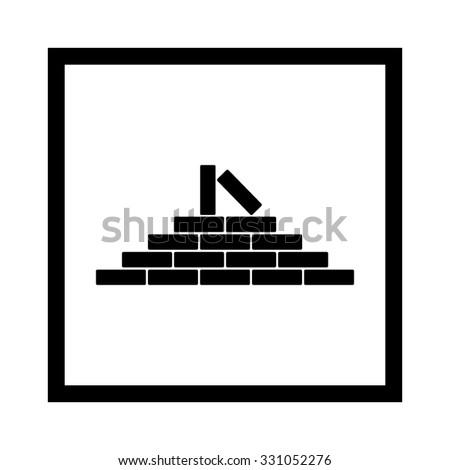 brick wall - stock vector